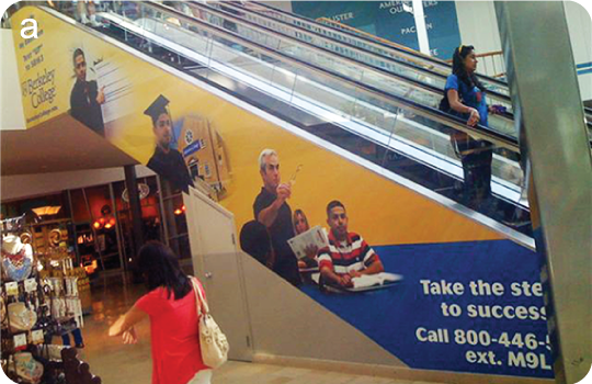 Escalator Cling Advertisement - Escalator Wrap | Sullivan Media, Inc.