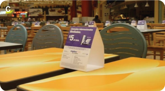 Table Top Advertisement - Table Stands | Sullivan Media, Inc.